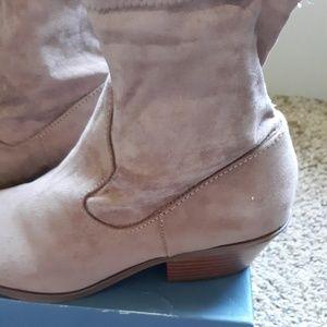 Loraine Microsuede Western Sock Booties - Sz 9 NIB